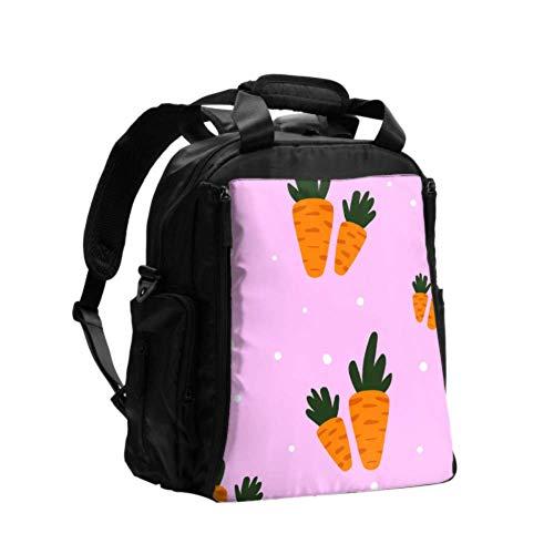 Ausgefallene Wickeltasche Rucksack Karotte Orange Biolebensmittel Wickeltasche Rucksack Multifunktions-Reiserucksack mit Windel Wickelunterlage für die Babypflege