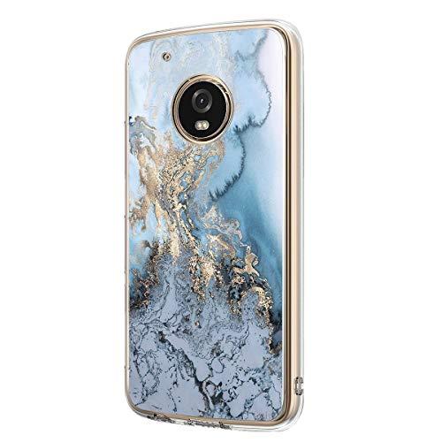 Jeack Hülle kompatibel mit Moto G5 hülle, Floral Motiv Handyhülle Slim Silikon Case Cover Schutzhülle Dünn Durchsichtig Handy-Tasche Back Cover Transparent Bumper für Moto G5 (4)