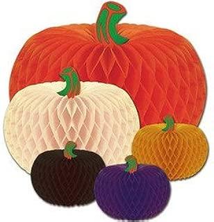 Beistle Helloween 5-pack Packaged Designer Tissue Pumpkins Party Accessories(1/pkg) Pkg/3