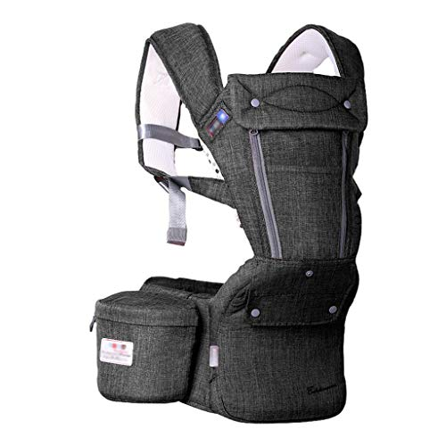 YBYEBD Papá portabebé delantero y trasero, transpirable envoltura ajustable envoltura ergonómica lactancia materna Sling portador