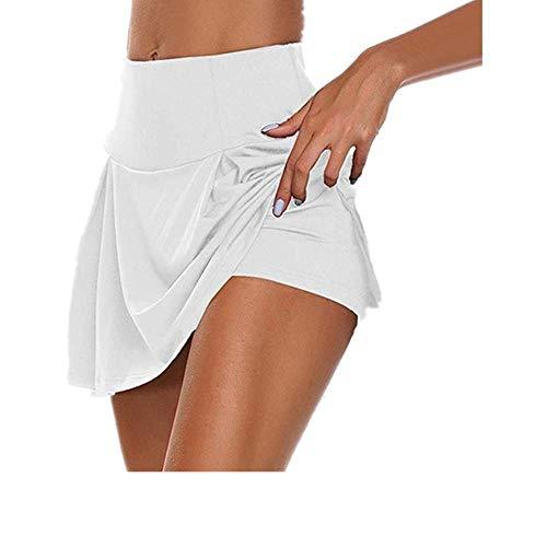 N\P Falda de tenis para mujer, pantalones cortos de deporte, niñas, gimnasio, corto, danza, correr, fitness, yoga, pantalones cortos, antivacíos