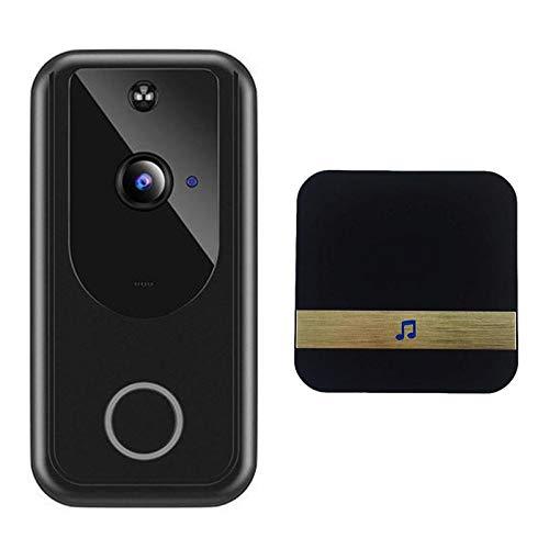 MagiDeal Instalación Fácil Del Timbre con Video Smart 1080P HD para El Sistema de Seguridad en El Hogar - Negro