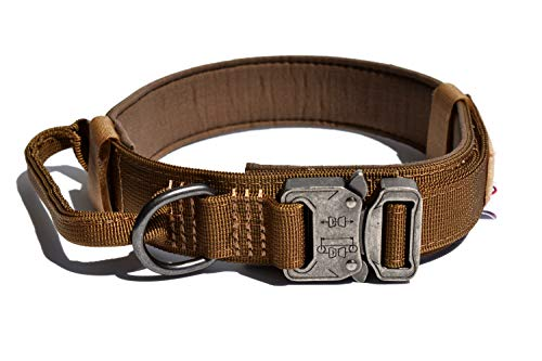 Tuberk Tactical Hundehalsband Militär Training Control Griff Verstellbar Klettbereich Naylon Hundehalsband, XL (20