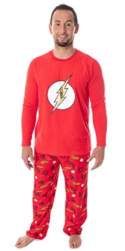 DC Comics Men's The Flash Superhero Fleece Long Sleeve Raglan Shirt...