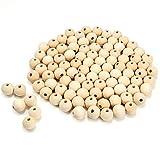 VABNEER 100 Pezzi Perline Legno Naturale Perline Legno Rotonde Perline Naturali Kit per Decorazioni Artigianali Fai-da-Te (6mm)