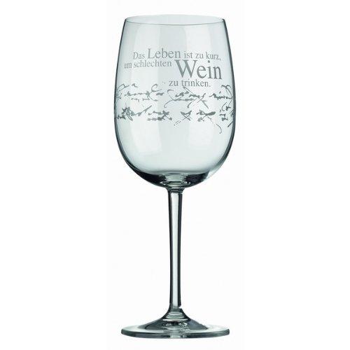Räder Rotweinglas Das Leben ist zu kurz.
