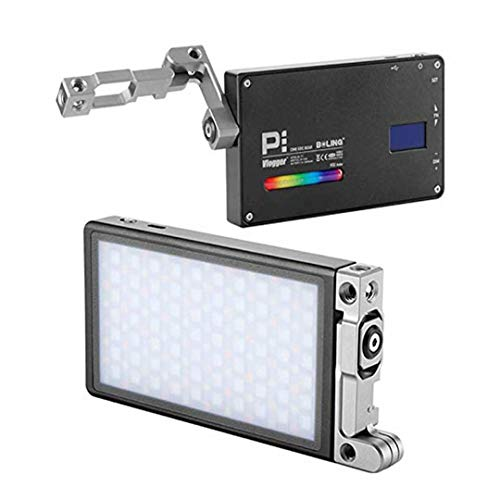 Boling P1 RGB Led Video Light 2500k-8500k Mini Pocket Size On Camera Light with 9 Applicable Situation, 360° Adjustable Support System with Built in Battery