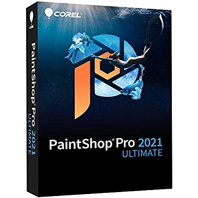 Corel Paintshop Pro 2021 Ultimate | Photo Editing & Graphic Design Software Plus Creative Collection [PC Disc]