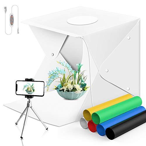 Sensyne Fotografie-Tischlichtbox, 70 LEDs, tragbares Fotostudio, Fotozelt, zusammenklappbar, für SLR-Telefonkameras