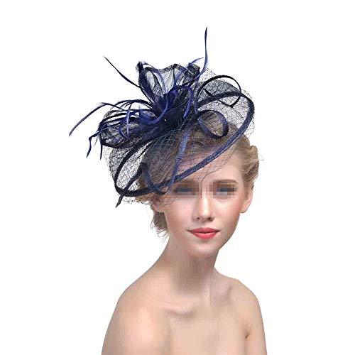 Chapeau De Fascinators Chapeau de thé fascinant, Photo, Fête, Envoyer cadeau de petite amie Chapeau en épingle à cheveux Chapeau haut de forme Fleur Voile Chapeau de noce Pour Cocktail Royal Ascot