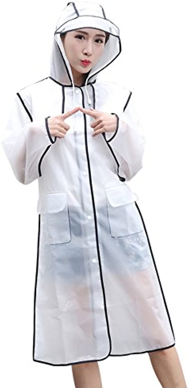 Transparent Raincoat Standing Alone Travel Transparent Raincoat Adult Male and Female Students Hiking Jacket Long Rain Cape