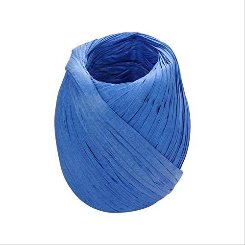 Cfbcc DIY Band Seil Hanfseil Palm Einwickelpapier Seil Geschenkkarton Verpackung Wedding Banquet Dekoration Seil 20m Kaffee (Color : Blue)
