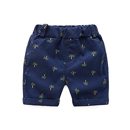 LAPLBEKE Baby Jungen Chino Shorts Kinder Kurze Summer Casual Hosen Blau Größe 92