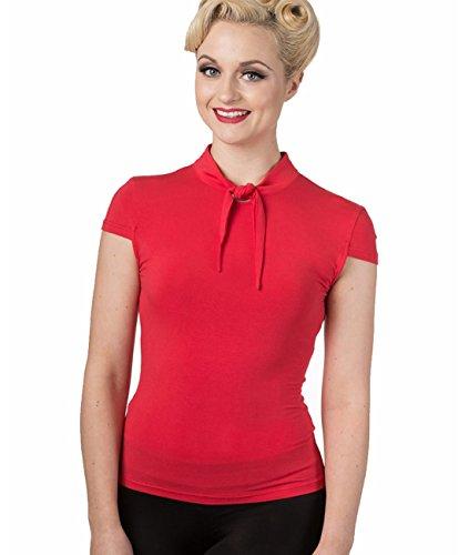 Banned Dancing Days ba - Blusa vintage para mujer, color rojo rojo XL