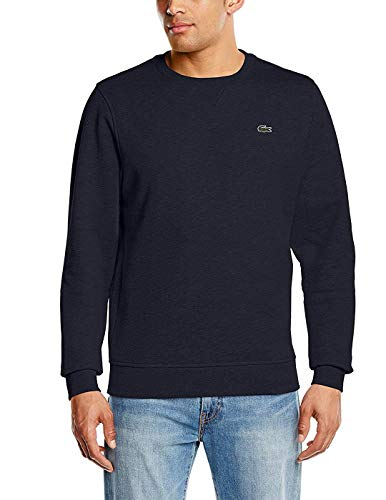 Lacoste Herren Sweatshirt SH7613 - 00, Blau (Marine), X-Small (Herstellergröße: 2)