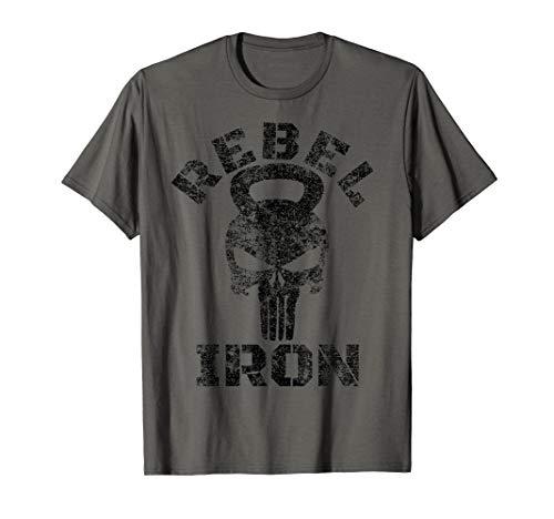 REBEL IRON SKULL KETTLEBELL T-Shirt