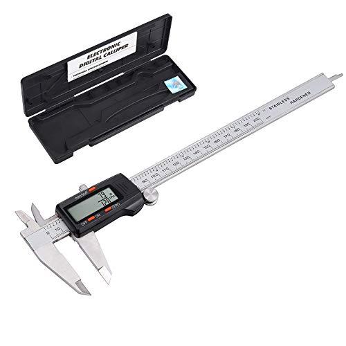 eSynic Calibredor Calibre Digital 200mm/8inch Pie de Ray Pinzas de Precision con Fracciones Pulgadas Metrica Conversor Micrometro Herramienta de Medicion para Disenadores Ingenieros y Mecanicos