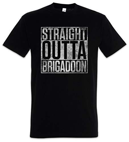Urban Backwoods Straight Outta Brigadoon Herren T-Shirt Schwarz Größe M