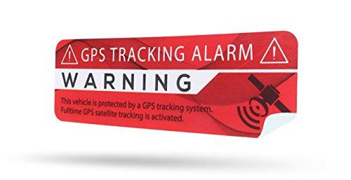 SECYOURITY - GPS Alarm Aufkleber Auto - Warnaufkleber für PKW & LKW (rot modern, 2)