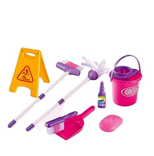Little Helper – Complete Cleaning kit Pretend Toy Set for Kids 3+ Contains a Full Range of Cleaning Supplies Including a Fully Functional Water Bucket, a Duster and Brush and a 'Wet Floor' Sign