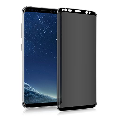 Galaxy S9/S8 privacy screen protector, tempered glass anti-glare/spy [anti-scratch] [no bubble] 9H hardness 3D touch screen, compatible with Samsung Galaxy S9/S8