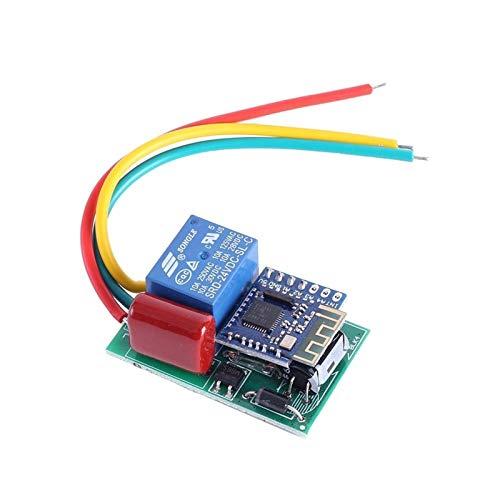 JINGERL AC 110V 220V Bluetooth inalámbrico Módulo de relé de Bluetooth Power-On Salida de Voltaje Autobloqueo/Controlador de retardo de Temporizador de Interruptor momentáneo