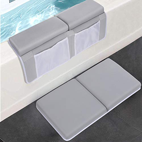 Bath Kneeler with Elbow Rest Pad Set, JJGoo 1.5 inch Thick Kneeling Pad Mat for Baby Bathtub, Bath Kneeler Padded Cushion with Arm Support Toy...