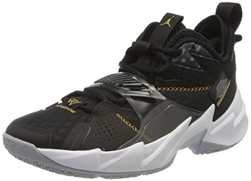Nike Herren Jordan WHY NOT ZER0.3 Basketball Shoe, Black/Metallic Gold-White, 42 EU