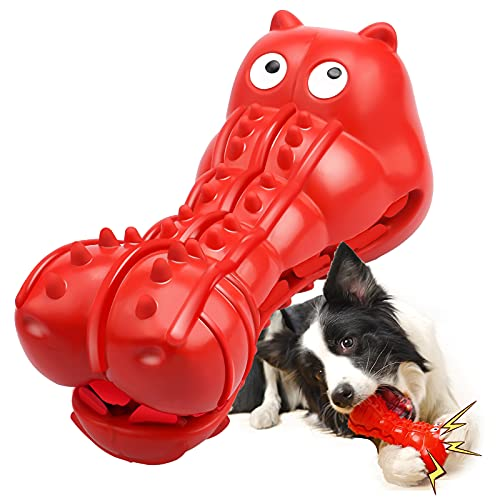 Rmolitty Squeaky Dog Toys for Aggressive Chewers, Tough Dog Chew Toys for Aggressive Chewers...