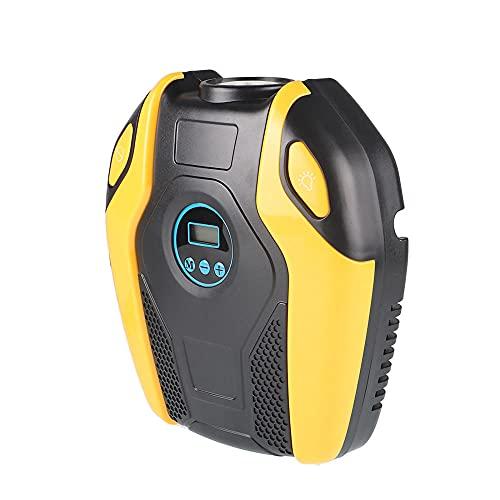 TaoAi Inflador de neumáticos portátil, compresor de Aire Bomba de neumático 12V Bomba de Aire eléctrica para Coche Neumáticos de Bicicleta con indicador de presión de neumáticos Digital y luz LED
