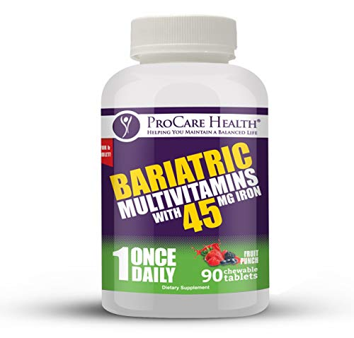 Bariatric Complete Chewable Multi-Vitamin Once Daily - Designed for RNY, Sleeve, Bypass and Switch Surgery Patients (90 Count)