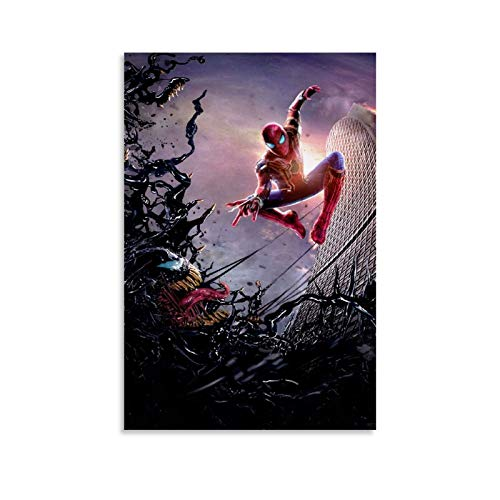 TOUKUI Tobey Spiderman Vs 2018 Venom Póster decorativo lienzo pared sala de estar póster dormitorio pintura 30 x 45 cm