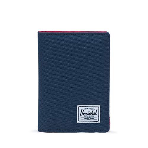 Herschel Men's Raynor RFID Passport Holder, Navy/Red