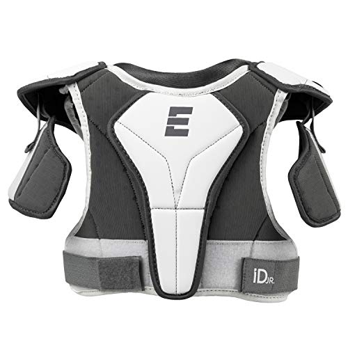 Epoch iD Jr. Youth Lacrosse Shoulder Pads, 30 Inches (63.5 cm - 76 cm) with Padded Neck Liner, White