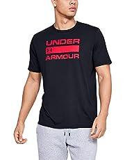 Under Armour UA TEAM ISSUE WORDMARK T-shirt met korte mouwen voor heren met grafisch ontwerp, losvallende sport- en fitnesskleding voor heren