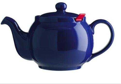 London Teapot Company - Chatsford - Teiera per 6 Tazze con 1 Filtro Rosso, Colore: Blu