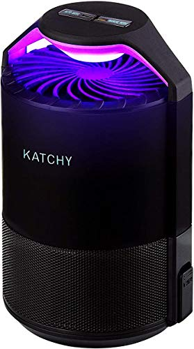 KATCHY Indoor Insect and Flying Bugs Trap Fruit Fly Gnat Mosquito Killer with UV Light Fan Sticky Glue Boards No...