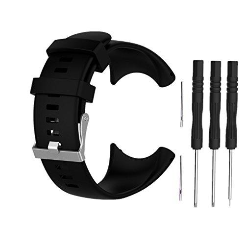 Bracelet pour Suunto Core All Black, Meiruo (Noir)