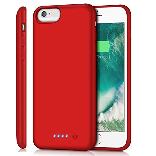 Battery Case for iPhone 6s Plus/ 6 Plus/ 7 Plus/ 8 Plus 8500mAh, Rechargeable Charging Case for iPhone 6Plus Battery Pack Apple 6s Plus Portable Power Bank 7Plus 8Plus, Red