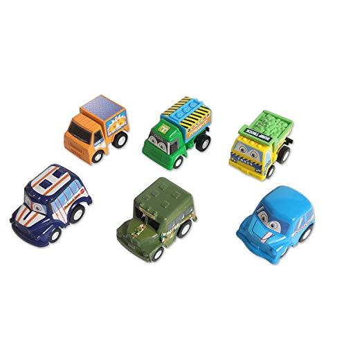 YifKoKo Spielzeugautos Mini Auto LKW Fahrzeuge Modell Spielzeug für Kinder, 6 Pcs