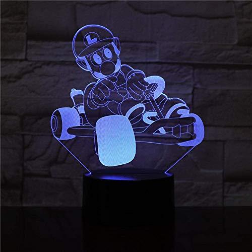 Luz De Ilusión 3D Luz De Noche Led Super Mario Bros Action Decoración De Dormitorio Para Niños Lámpara De Mesa Para BebésRegalo DeCumpleañosPara Niños
