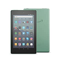 "7"" IPS display; 16 or 32 GB of internal storage (add up to 512 GB with microSD) Faster 1.3 GHz quad-core processor Up to 7 hours of reading, browsing the web, watching video, and listening to music Hands-free with Alexa, including on/off toggle 1 GB ..."