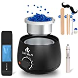 Emprian Waxing kit Wax Warmer-200gr Blue Wax BEADS-Hair Removal Wax Pot for Women and Men-Painless Waxing for Full Body,Legs,Face,Eyebrows,Bikini and Armpit-Easy to Use Waxing kit for Home and Salon