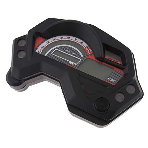 gazechimp Universal 12v Moto Tacómetro Digital para Tacómetro Cuentakilómetros