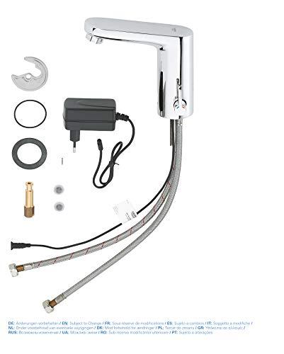 Grohe – IR Waschtisch-Sensorarmatur, Mischbatterie, mit Steckertrafo, Chrom, Eurosmart Cosmopolitan E - 3
