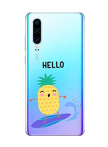 Suhctup Funda Compatible con Huawei P Smart 2019 Transparent,Carcasa Protección Silicona TPU Bumper Moda Dibujos Protector Piel Ultra Pulgadas Anti Choques Estuche Case para Huawei P Smart 2019(13)