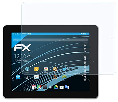 atFolix Schutzfolie kompatibel mit Blaupunkt Endeavour 1010 HD Folie, ultraklare FX Bildschirmschutzfolie (2X)
