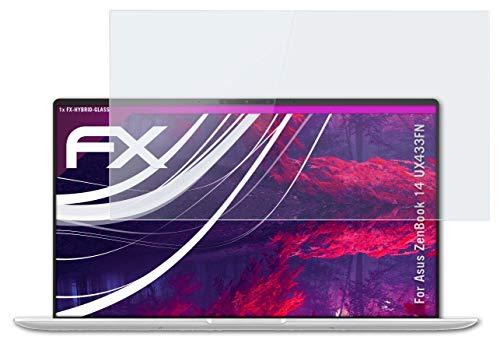atFolix Glasfolie kompatibel mit Asus ZenBook 14 UX433FN Panzerfolie, 9H Hybrid-Glass FX Schutzpanzer Folie
