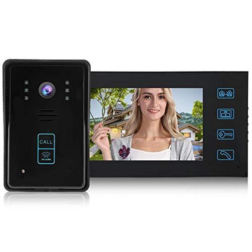 7 'TFT LCD pantalla de la puerta del visor de la puerta Timbre, para el intercomunicador bidireccional de la escuela (regulación británica)
