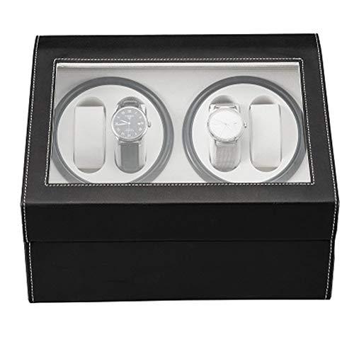 BAIQIANGBAL LHorizoncn Hochwertige Uhrenbeweger Für Automatikuhren PU 4 + 6 Mechanischer Uhren Aufbewahrungskoffer, Passend Für Damen- Und Herrenuhren (schwarz)